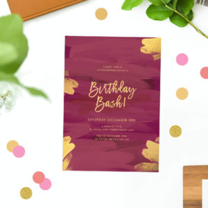 plum and gold birthday invitations deep pink purple burgundy red marsala birthday invites australia perth sydney brisbane canberra melbourne sail and swan
