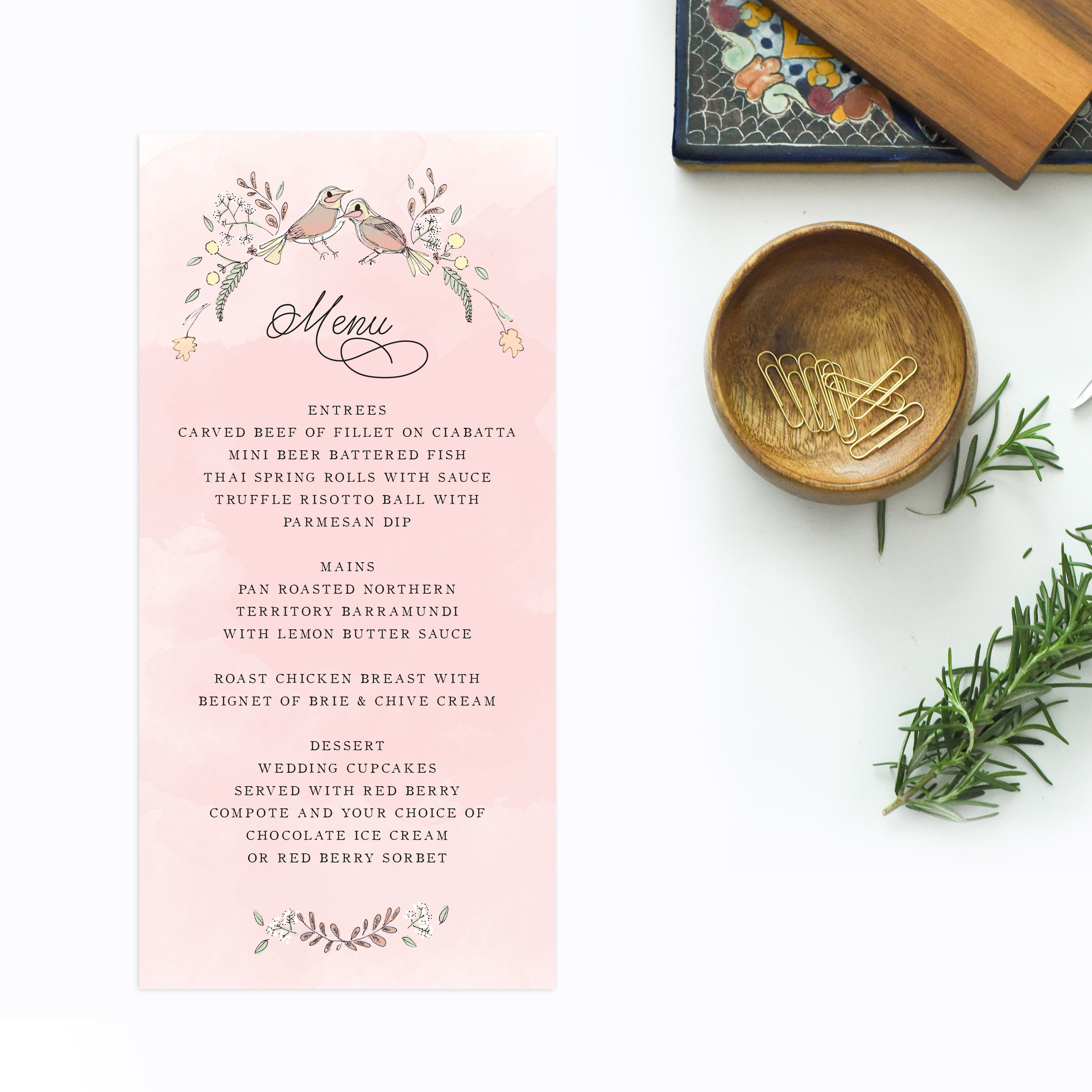 Love Birds Illustrated Wedding Invitations Sail and Swan