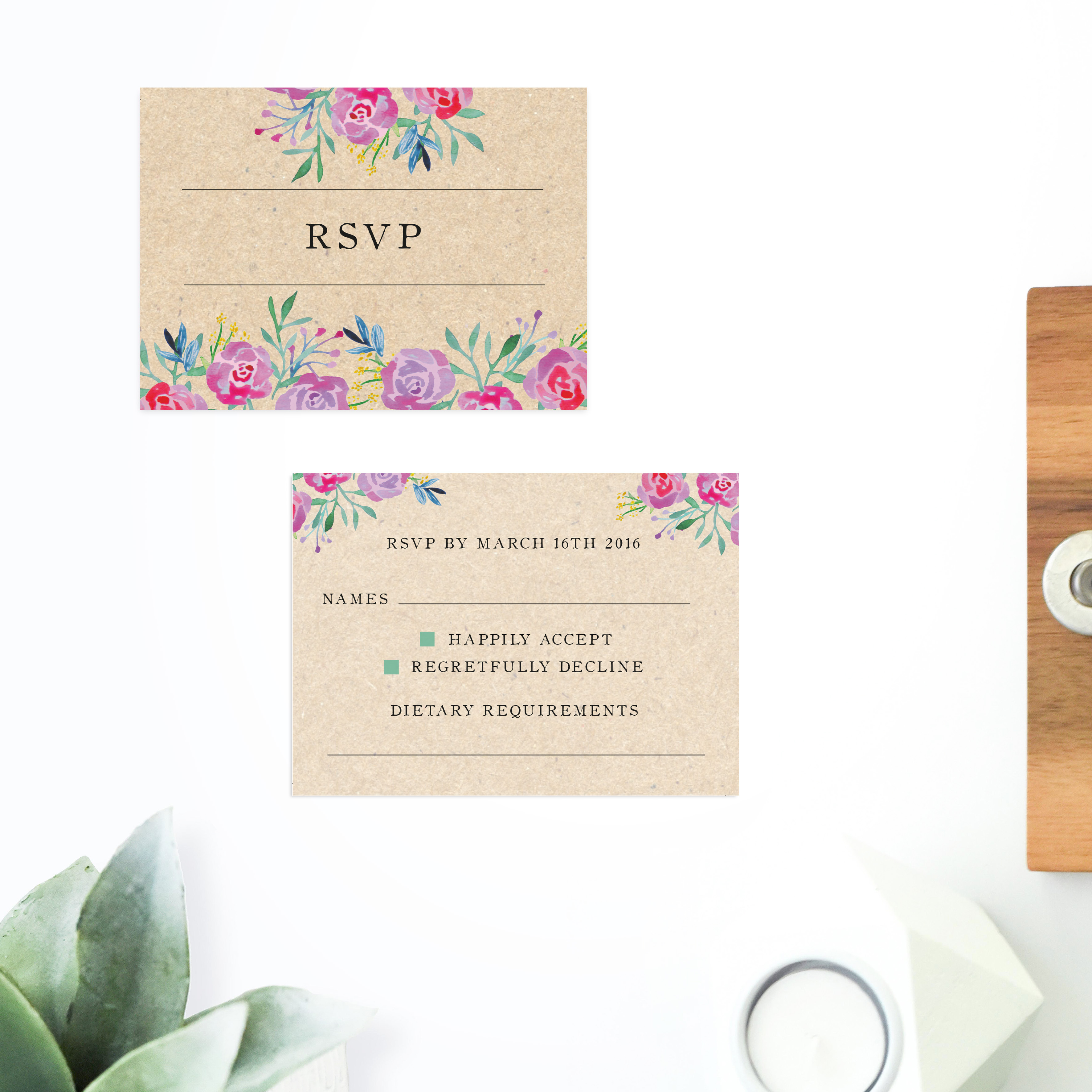 Rustic Floral Wedding Invitations Sail and Swan