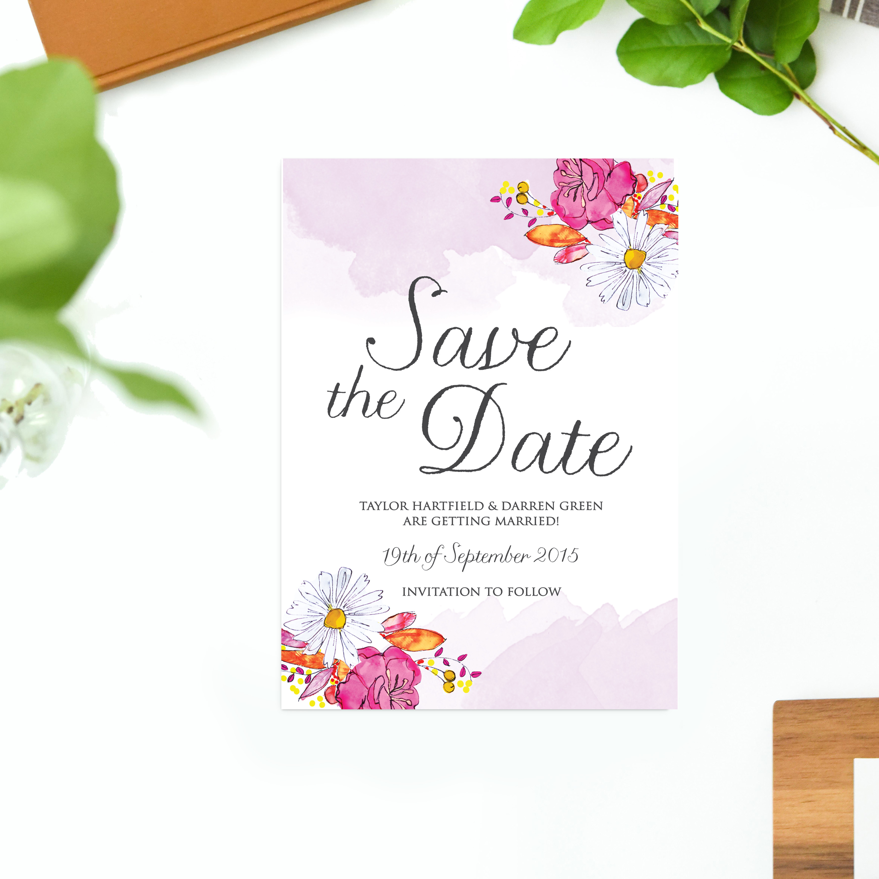 Watercolour flower wedding invitations sail and swan watercolour flower wedding invitations australia wedding stationery sydney perth brisbane melbourne adelaide sail and swan stopboris Image collections