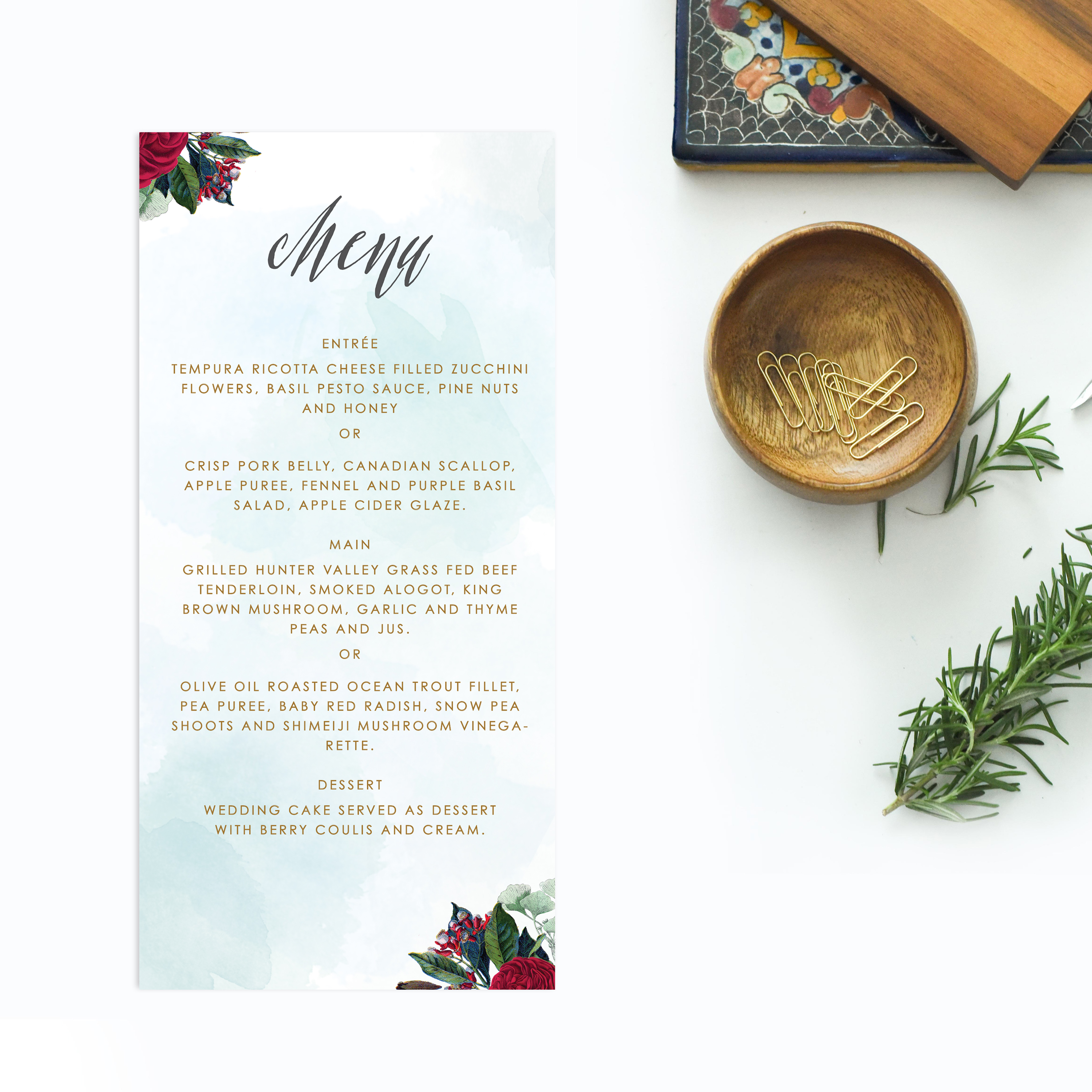Ruby Red Floral Vintage Wedding Invitations Sail And Swan