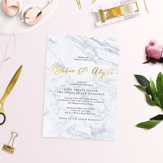 What is Foil Stamping Foil Wedding Invitations Explained