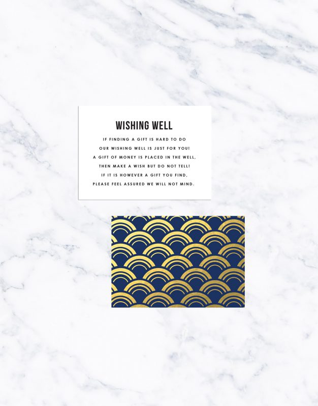 Navy and Gold Foil Art Deco Wedding Invitations Arches Curves Fan Oriental Pattern Sail and Swan Australia