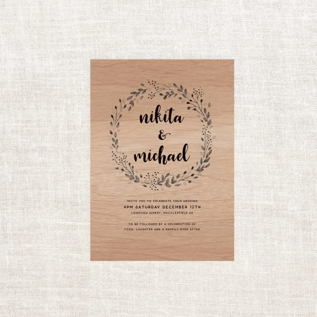 Wooden Wedding Invitations Australia Real Wooden Invitations Sail