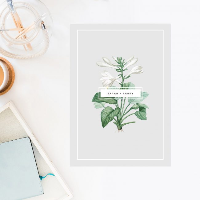 Elegant Botanical Grey White Green Wedding Invitations Floral White Flowers Chic natural neutral pale grey Wedding Invites Australia Perth Sydney Melbourne Brisbane Sail and Swan