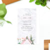 Modern Pink Green Floral Botanical Wedding Invitations Rose Roses Leaves greenery foliage contemporary diamond edgy marble trendy stylish chic natural wedding invites australia sail and swan