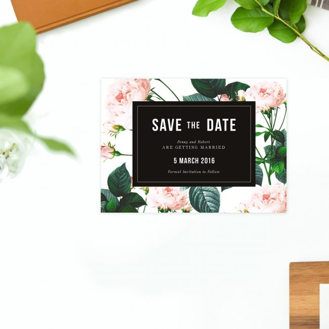 Modern Vintage Rose Save the Dates Australia Sydney Perth Melbourne Adelaide Canberra Brisbane Modern Rose Save the Dates New York United States UK London