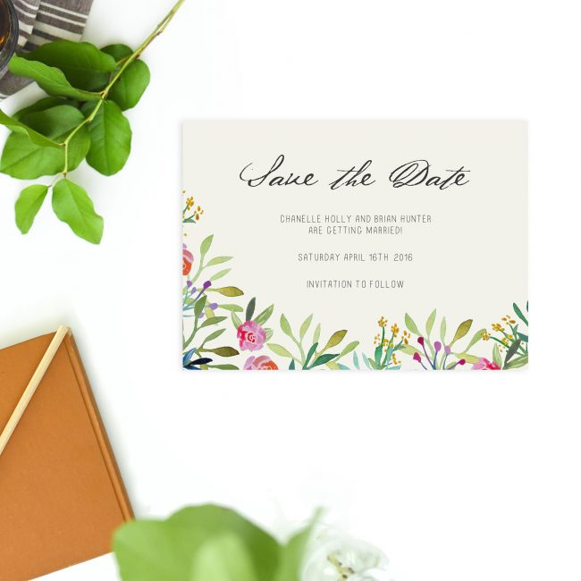 Woodland Forest Watercolour Floral Save the Dates Australia Sydney Perth Melbourne brisbane adelaide canberra elegant floral save the dates new york united states london uk
