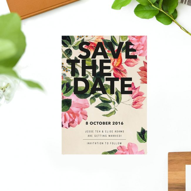 Modern Floral Save the Dates Australia Sydney Perth melbourne Brisbane Canberra Adelaide Botanical Foliage Save the Dates UK London United States New York Sail and Swan
