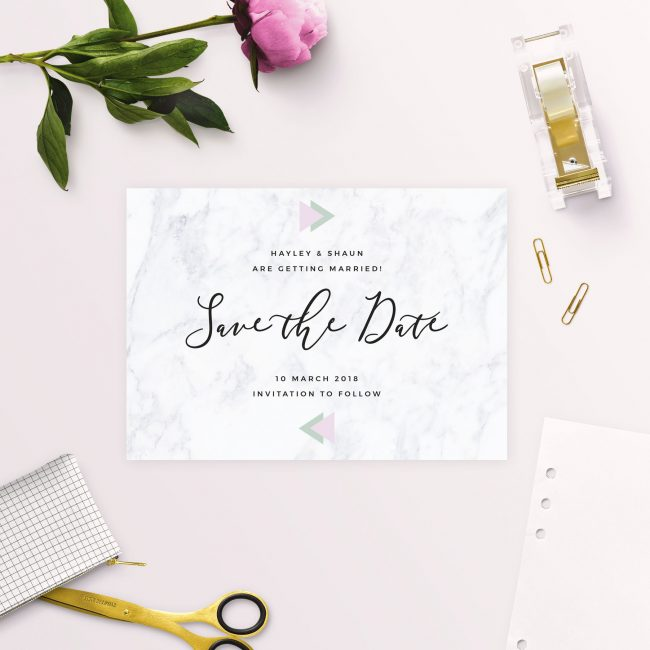 Modern Geometric Marble Save the Dates Australia Sydney Perth Melbourne Adelaide brisbane canberra new york united states london uk