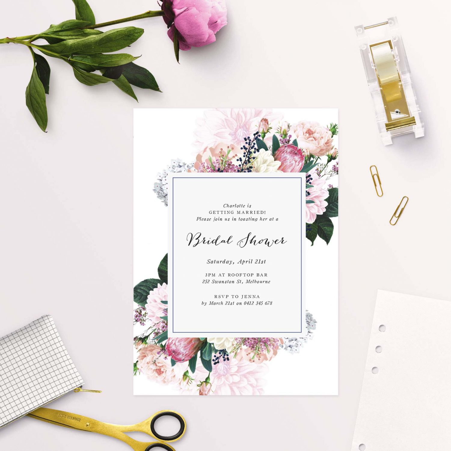 pink brunch invites bridal shower invitations archives category elegant calligraphy modern paper product